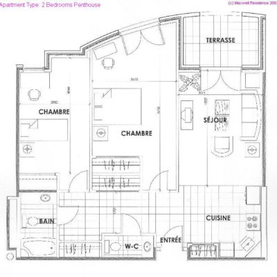 Two Bedrooms Penthouse Apartment